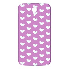 Heart Love Valentine White Purple Card Samsung Galaxy Mega I9200 Hardshell Back Case by Mariart