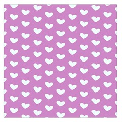 Heart Love Valentine White Purple Card Large Satin Scarf (square) by Mariart