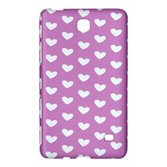 Heart Love Valentine White Purple Card Samsung Galaxy Tab 4 (8 ) Hardshell Case  by Mariart