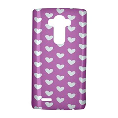 Heart Love Valentine White Purple Card Lg G4 Hardshell Case by Mariart