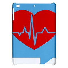Heartbeat Health Heart Sign Red Blue Apple Ipad Mini Hardshell Case by Mariart
