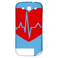 Heartbeat Health Heart Sign Red Blue Samsung Galaxy S3 S Iii Classic Hardshell Back Case by Mariart