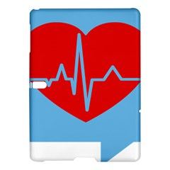 Heartbeat Health Heart Sign Red Blue Samsung Galaxy Tab S (10 5 ) Hardshell Case  by Mariart