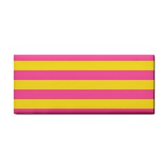 Horizontal Pink Yellow Line Cosmetic Storage Cases by Mariart