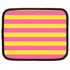 Horizontal Pink Yellow Line Netbook Case (xxl)  by Mariart