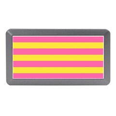 Horizontal Pink Yellow Line Memory Card Reader (mini) by Mariart