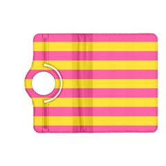 Horizontal Pink Yellow Line Kindle Fire Hd (2013) Flip 360 Case by Mariart
