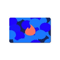 Image Orange Blue Sign Black Spot Polka Magnet (name Card) by Mariart