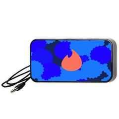 Image Orange Blue Sign Black Spot Polka Portable Speaker (black) by Mariart