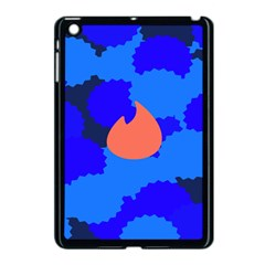 Image Orange Blue Sign Black Spot Polka Apple Ipad Mini Case (black) by Mariart
