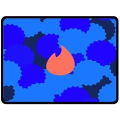 Image Orange Blue Sign Black Spot Polka Double Sided Fleece Blanket (large)  by Mariart