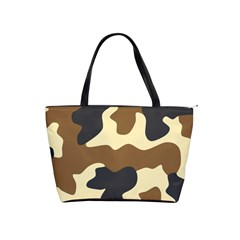 Initial Camouflage Camo Netting Brown Black Shoulder Handbags by Mariart