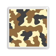 Initial Camouflage Camo Netting Brown Black Memory Card Reader (square)  by Mariart