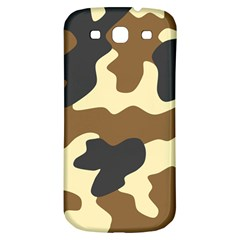 Initial Camouflage Camo Netting Brown Black Samsung Galaxy S3 S Iii Classic Hardshell Back Case by Mariart