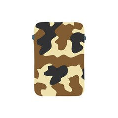 Initial Camouflage Camo Netting Brown Black Apple Ipad Mini Protective Soft Cases by Mariart