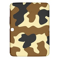 Initial Camouflage Camo Netting Brown Black Samsung Galaxy Tab 3 (10 1 ) P5200 Hardshell Case  by Mariart