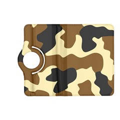 Initial Camouflage Camo Netting Brown Black Kindle Fire Hd (2013) Flip 360 Case by Mariart