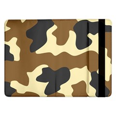 Initial Camouflage Camo Netting Brown Black Samsung Galaxy Tab Pro 12 2  Flip Case by Mariart