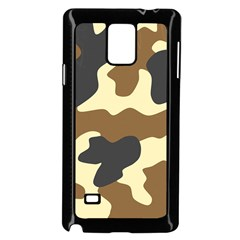 Initial Camouflage Camo Netting Brown Black Samsung Galaxy Note 4 Case (black) by Mariart