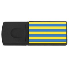 Horizontal Blue Yellow Line Usb Flash Drive Rectangular (4 Gb) by Mariart