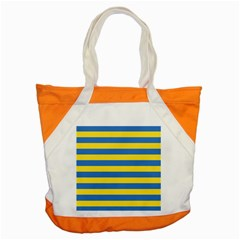 Horizontal Blue Yellow Line Accent Tote Bag by Mariart