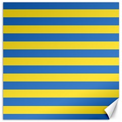 Horizontal Blue Yellow Line Canvas 20  X 20   by Mariart