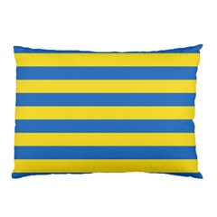 Horizontal Blue Yellow Line Pillow Case by Mariart