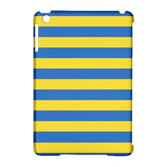Horizontal Blue Yellow Line Apple Ipad Mini Hardshell Case (compatible With Smart Cover) by Mariart