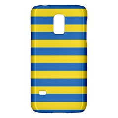 Horizontal Blue Yellow Line Galaxy S5 Mini by Mariart