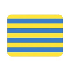 Horizontal Blue Yellow Line Double Sided Flano Blanket (mini)  by Mariart