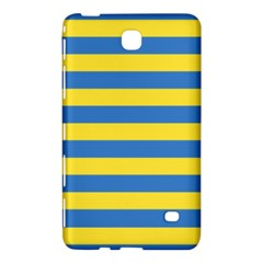 Horizontal Blue Yellow Line Samsung Galaxy Tab 4 (8 ) Hardshell Case  by Mariart