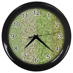 Camo Pack Initial Camouflage Wall Clocks (black) by Mariart