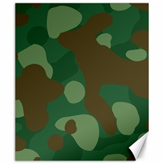 Initial Camouflage Como Green Brown Canvas 20  X 24   by Mariart