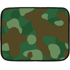 Initial Camouflage Como Green Brown Double Sided Fleece Blanket (mini)  by Mariart