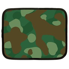 Initial Camouflage Como Green Brown Netbook Case (xxl)  by Mariart