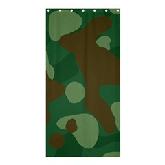 Initial Camouflage Como Green Brown Shower Curtain 36  X 72  (stall)  by Mariart