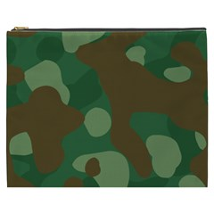 Initial Camouflage Como Green Brown Cosmetic Bag (xxxl)  by Mariart