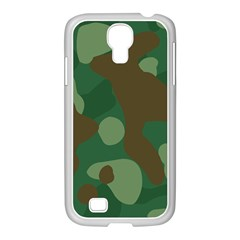 Initial Camouflage Como Green Brown Samsung Galaxy S4 I9500/ I9505 Case (white)