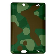 Initial Camouflage Como Green Brown Amazon Kindle Fire Hd (2013) Hardshell Case by Mariart