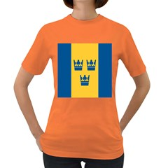 King Queen Crown Blue Yellow Women s Dark T Shirt by Mariart