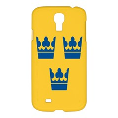 King Queen Crown Blue Yellow Samsung Galaxy S4 I9500/i9505 Hardshell Case by Mariart