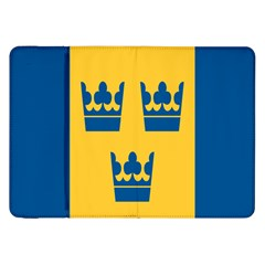 King Queen Crown Blue Yellow Samsung Galaxy Tab 8 9  P7300 Flip Case by Mariart
