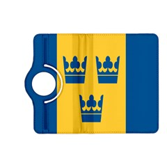 King Queen Crown Blue Yellow Kindle Fire Hd (2013) Flip 360 Case by Mariart
