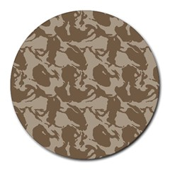 Initial Camouflage Brown Round Mousepads by Mariart