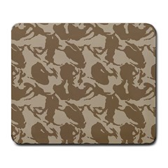 Initial Camouflage Brown Large Mousepads by Mariart