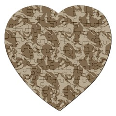 Initial Camouflage Brown Jigsaw Puzzle (heart) by Mariart