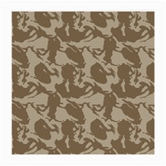 Initial Camouflage Brown Medium Glasses Cloth by Mariart