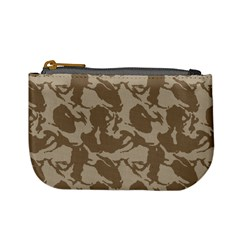 Initial Camouflage Brown Mini Coin Purses by Mariart