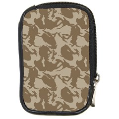 Initial Camouflage Brown Compact Camera Cases by Mariart