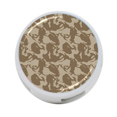 Initial Camouflage Brown 4 Port Usb Hub (two Sides)